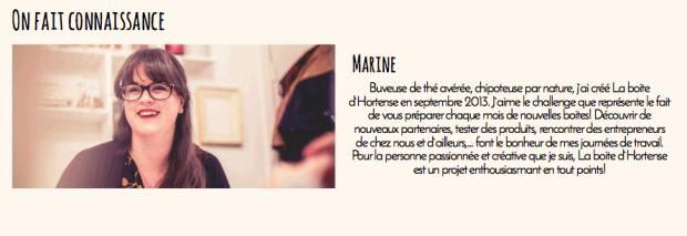 Marine Adank - Créatrice de La boîte d'Hortense